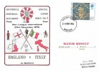 1976 Christmas, England v Italy at Bedford, Historical Football Associations, Special Cover No 5, Dawn First Day Cover, Bedford FDI