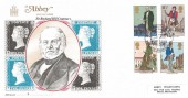 1979 Sir Rowland Hill, Abbey FDC, Rowland Hill Centenary Mail Coach Run Birmingham H/S