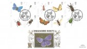 2008 British Insects, Official Benham Gold FDC, Endangered Insects London NW1 H/S