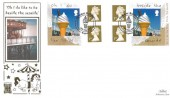 2008 Ice Cream Self Adhesives Retail Booklet, Official Benham Gold FDC, Summer Holiday Brighton H/S