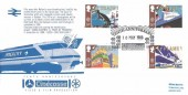 1988 Transport & Communications, Cinecosse Official FDC, Tenth Anniversary Video Cinecosse Film Ellon Aberdeenshire H/S