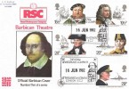 1982 Maritime Heritage, Barbican Official FDC, Royal Shakespeare Company Barbican EC2 H/S