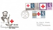 1963 Red Cross, Phosphor Set, BPA/PTS Illustrated FDC, Rickmansworth Herts. cds