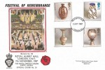 1987 Studio Pottery, Royal British Legion Poppy Appeal FDC, London SW FDI.