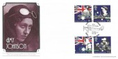 1988 Australian Bicentenary, Bradbury FDC, Links with Australia Amy Johnson Hull H/S.