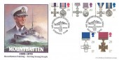 1990 Gallantry, Bradbury Mountbatten FDC, The Distinguished Service Medal Liverpool H/S.