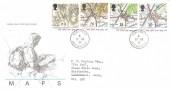 1991 Maps, Royal Mail FDC, Ham Street Ashford Kent cds.