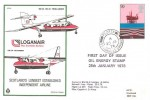 1978 Energy, Loganair The Scottish Airline FDC, Flotta Stromness Orkney cds.