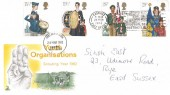1982 Youth Organisations, Mercury FDC, Sun, Sea, Sand Hastings is Grand Slogan.