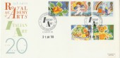 1989 Greetings Stamps on Official Royal Academy of Arts FDC