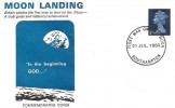 1969 Moon Landing Commemorative Cover, First Man on the Moon Southampton H/S.
