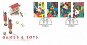 1989 Games & Toys, Royal Mail FDC, Putting Children First NSPCC London EC1 H/S.