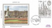 1980 London 1980 International Stamp Exhibition, Benham BS3a Silk FDC, First Day of Issue London SW H/S.
