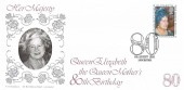 1980 Queen Mother's 80th Birthday, Bradbury LFDC 3 Official FDC, First Day Covers of Royalty Exhibition Leicester H/S.