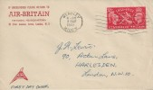 1951 Festival of Britain, Pair of Air-Britain Covers, Wembley Middx. Postmark.