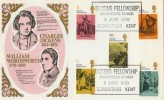 1970, Literary Anniversaries Dickens, Thames FDC, Scarce Dickens Fellowship Broadstairs H/S