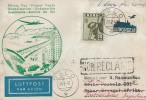 1947 First Flight cover from Scandinavia to South America, posted in Oslo Norway to Buenos Aires Argentina, via Dakar Senegal Africa.