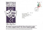 1982 British Theatre, A new approach to low back pain, Commercial FDC, Coventry FDI.