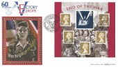 2005 End of the War, Benham BLCS305b FDC, The End of World War II Peacehaven East Sussex H/S.