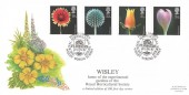 1987 Flowers, Bradbury FDC, The Royal Hortucultural Society Wisley Garden Wisley Woking Surrey H/S