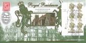 2000 New Millennium, 1st Definitive Marginal block of 6, Benham D341 Official FDC, Royal Residences Sandringham Norfolk H/S.