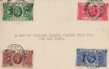 1935 King George V  Silver Jubilee, Plain Postcard FDC, Brierley Hill Staffs. cds.