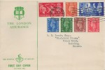 1951 Festival of Britain with Low Value Definitive issue, London Assurance FDC, Brighton & Hove Sussex A Cancel.