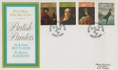 1973 British Paintings, Post Office FDC, Douglas Isle of Man H/S.