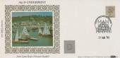 1983 16p D Underprint from Lyme Regis Discount Booklet, Benham D9 FDC, Exeter Philatelic Counter H/S.