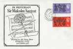 1967 In Memoriam Sir Malcolm Sargent Commemorative cover, Stamford Lincs. cds.