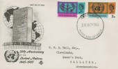 1965 United Nations & International Co-operation Year, Stuart FDC, Aberdeen FDI.