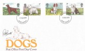 1979 Dogs, Post Office FDC, Exeter District FDI, Signed by the Stamp Designer.