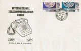 1965 International Communications, scarce Illustrated FDC, Pulham Market Diss Norfolk cds