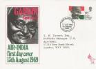 1969 Gandhi, Air India FDC, Philatelic Bureau Edinburgh H/S.