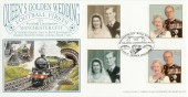 1997 Queen's Golden Wedding Dawn Official FDC, Manchester City Royal Sovereign Ardwick Manchester H/S