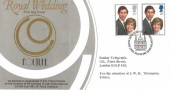 1981 Royal Wedding, Couture Marketing Ltd FDC, First Day of Issue London EC H/S.