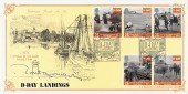 1994 D Day Bradbury VP 86 Official FDC. Signed by Montgomery CBE