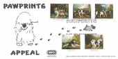 1991 Dogs, Paintings by George Stubbs, Peter Withers Pawprints Appeal RSPCA North Staffs Official FDC.
