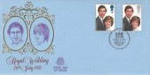 1981 Royal Wedding, Peter Scot FDC, First Day of Issue Caernarfon H/S.