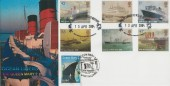 2004 Ocean Liners, Peter Payne Official FDC, Doubled with French Queen Mary 2 Stamp cancelled Saint Nazaire 12.12.2003, Ocean Liners to Welsh History Post Office Approach London E7 H/S.