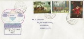 1967 British Paintings, Unsual Handmade FDC, Tottenham N17 cds.