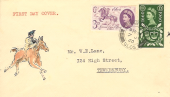 1960 General Letter Office, GLO, Hand Illustrated FDC, Tewkesbury Glos. cds
