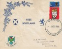 1966 Christmas, Free Scotland FDC, Glasgow FDI, 3d Stamp only.