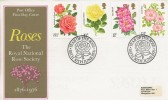 1976 Roses, Post Office FDC, Year of the Rose Bath H/S