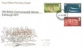 1970 Commonwealth Games, Post Office FDC, Edinburgh FDI