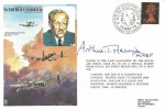 1976 RAF Cover RAFM HA4 Cover Signed by Arthur T Harris (Bomber Harris), 60th Anniversary of No.50 Squadron British Forces 1531 Postal Service H/S