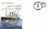 1992 Titanic International New York Convention 15th -17th  May 1992 Cover, New York Postmark
