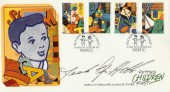 1989 Games & Toys Covercraft NSPCC Official FDC. Signed by Derek Griffiths