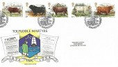 1984 British Cattle, TUC Official FDC, The Martyrs Tolpuddle Dorchester Dorset H/S