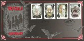 1997 Tales of Horror, Bradbury Victorian Prints No. 111 Official FDC, The Whitby Dracula Society H/S